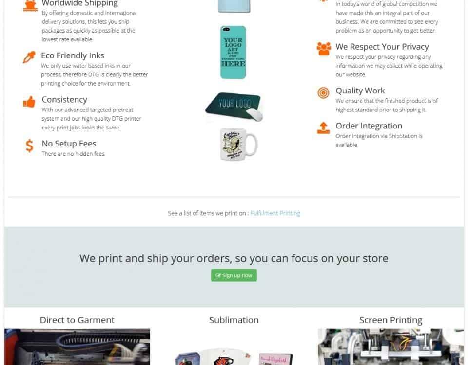 4C Print Shop Joomla Website